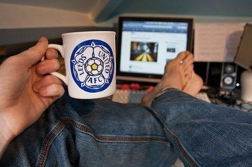 leeds united mug computer desk jeans