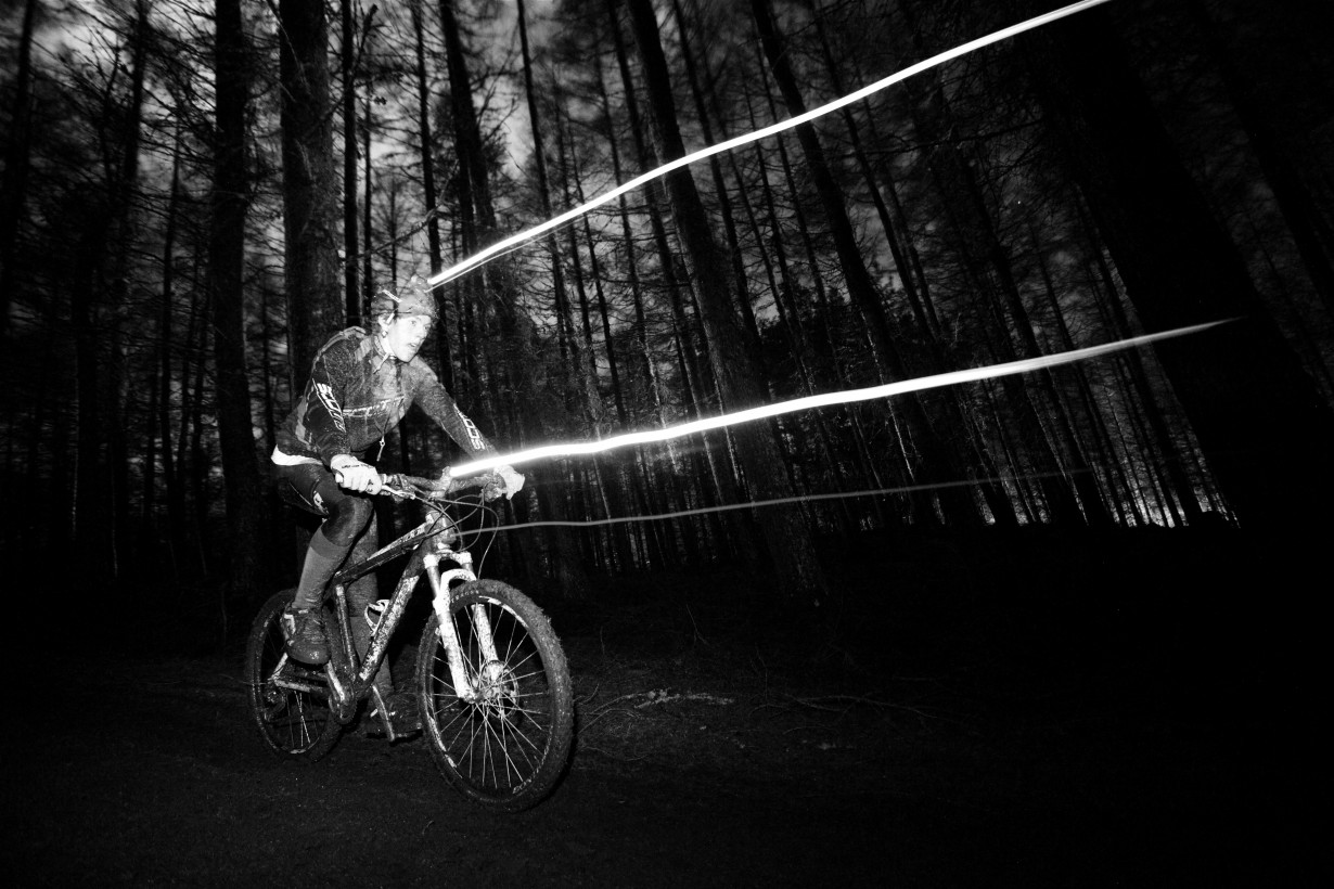 strathpuffer night ride bike forest