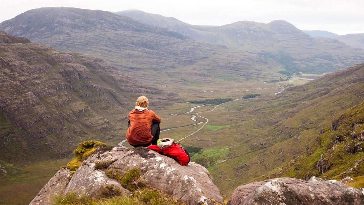 torridon mountain person  sitting