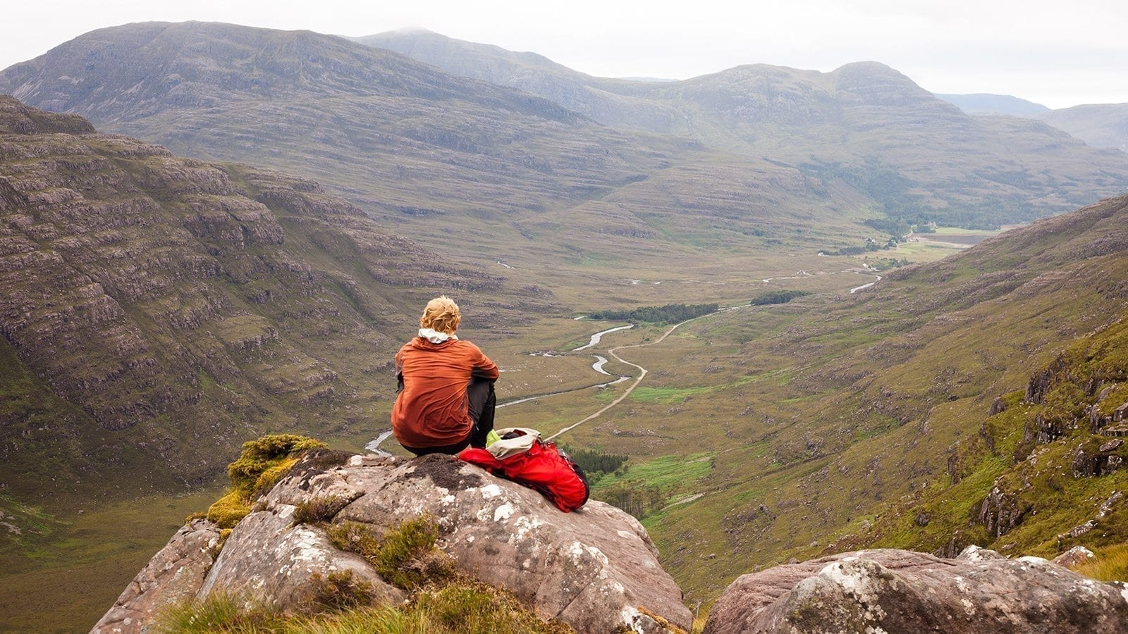 torridon mountain person  sitting