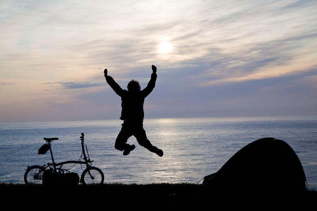Silhouette jump bike