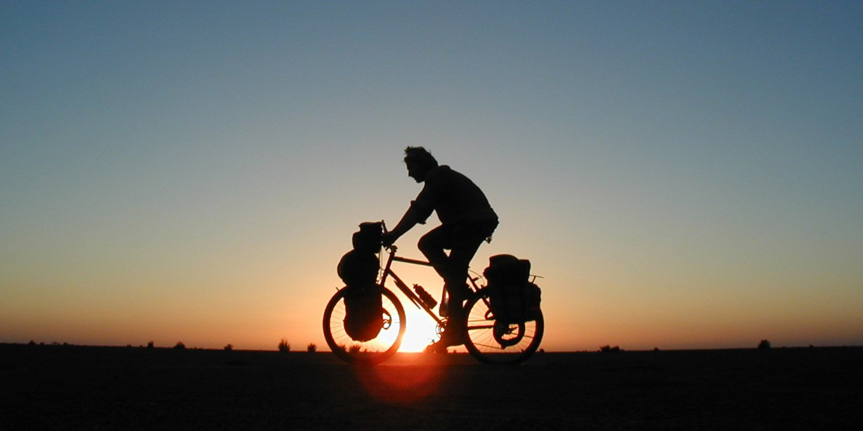 bike silhouette sunset