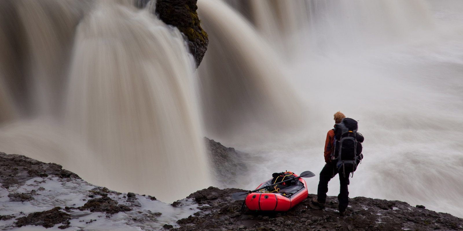 Packraft kayak expedition across Iceland