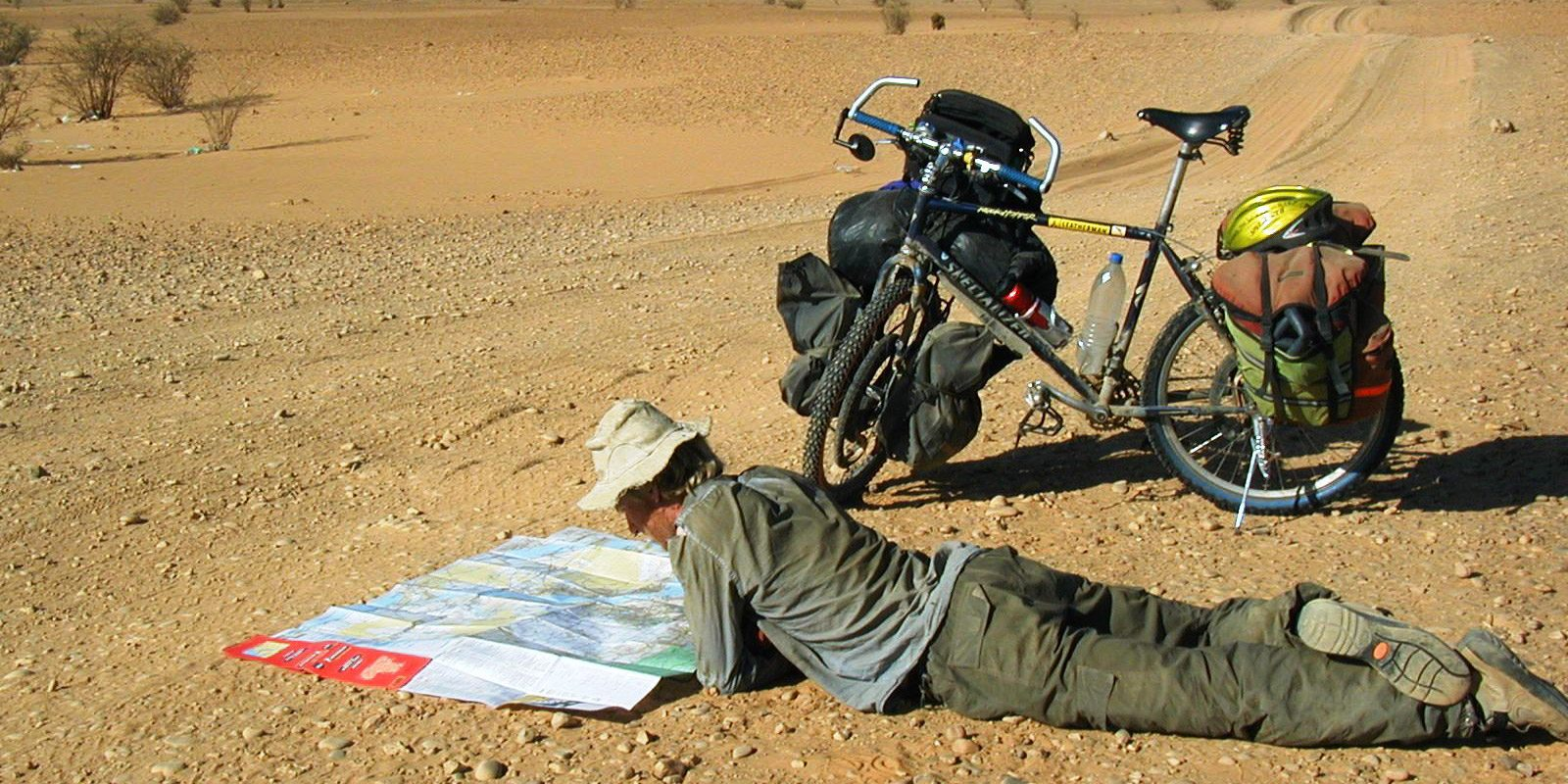 Alastair Humphreys cycling across Sudan