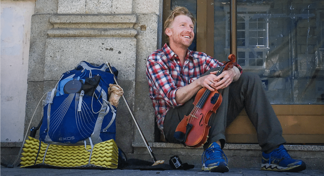 alastair humphreys violin busking spain