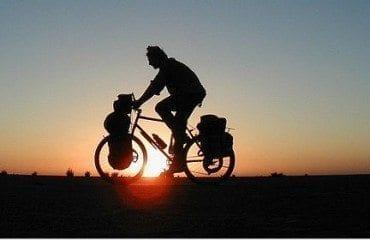 sunset silhouette bike