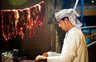 oman food arab cooking meat man