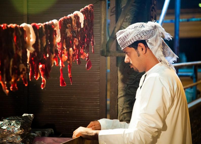 oman food arab cooking meat man