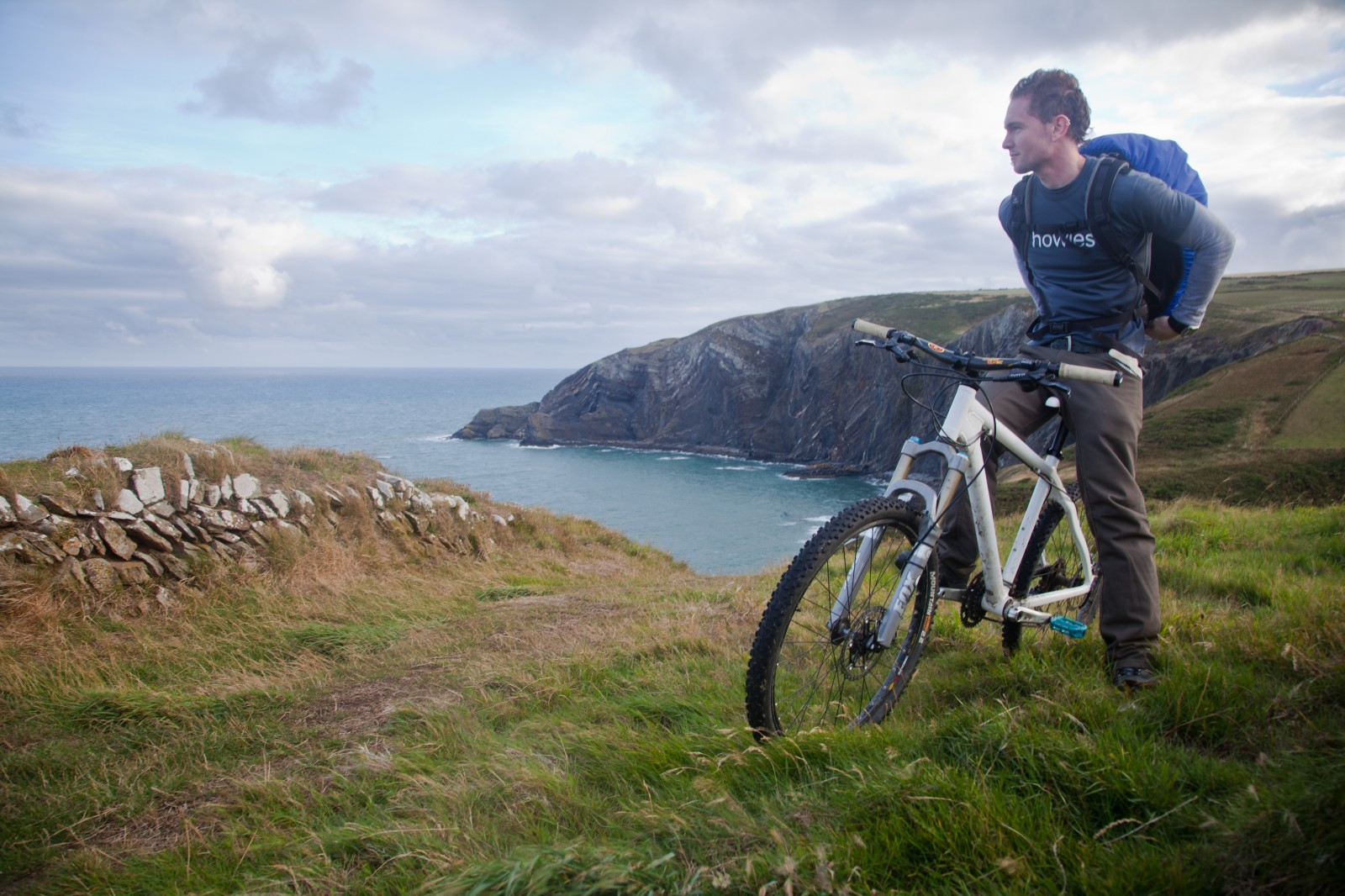 howies microadventure bike cliff sea