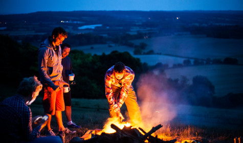 Cooking on a fire under the stars: a 5 to 9 #Microadventure
