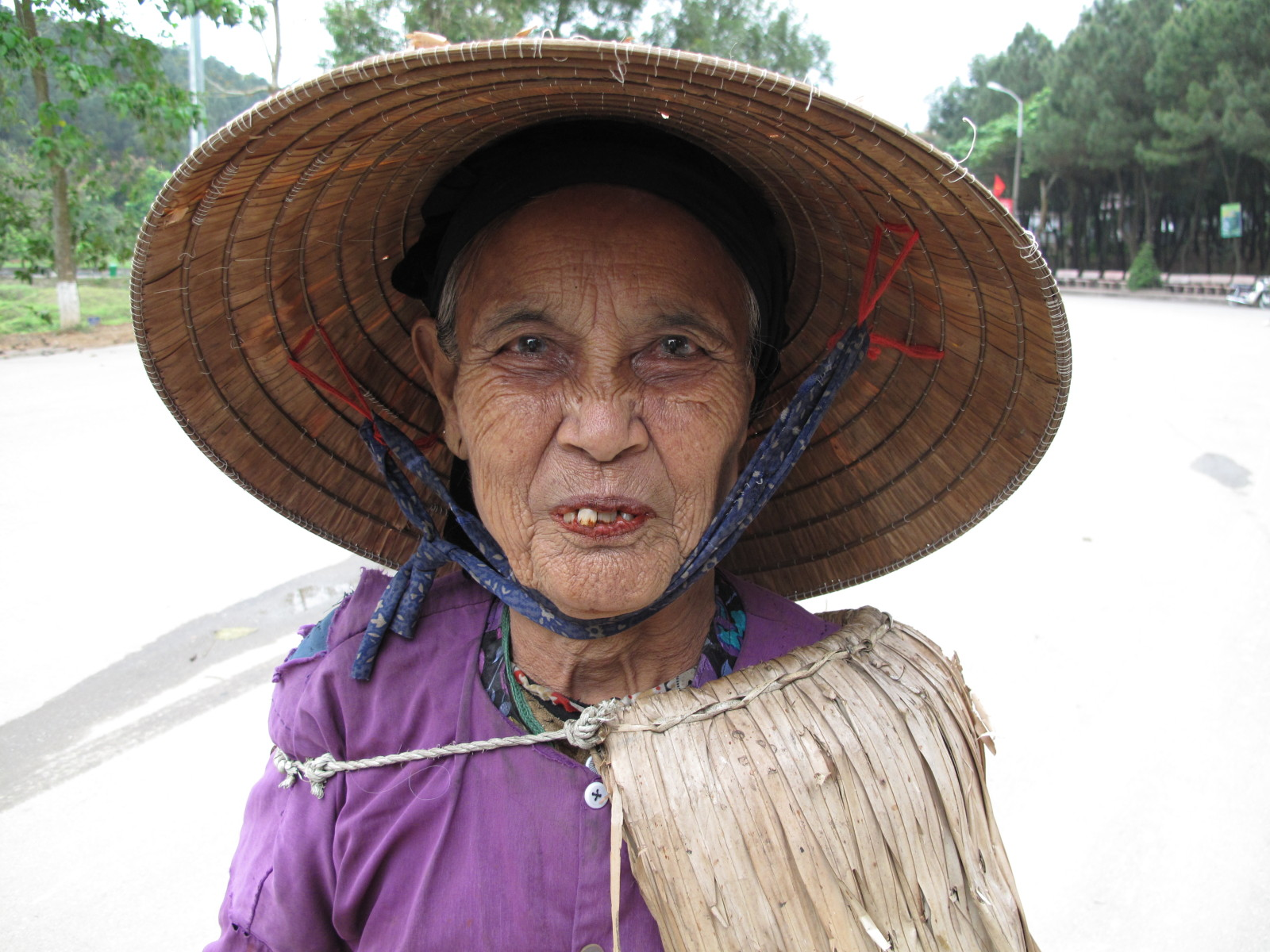 Old lady in Dong Loc, Vietnam