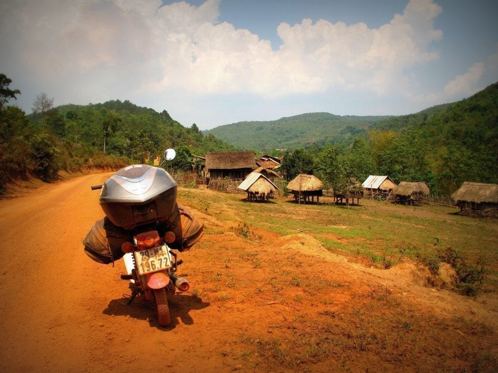Talieng village on the road to Dak Cheung, Laos