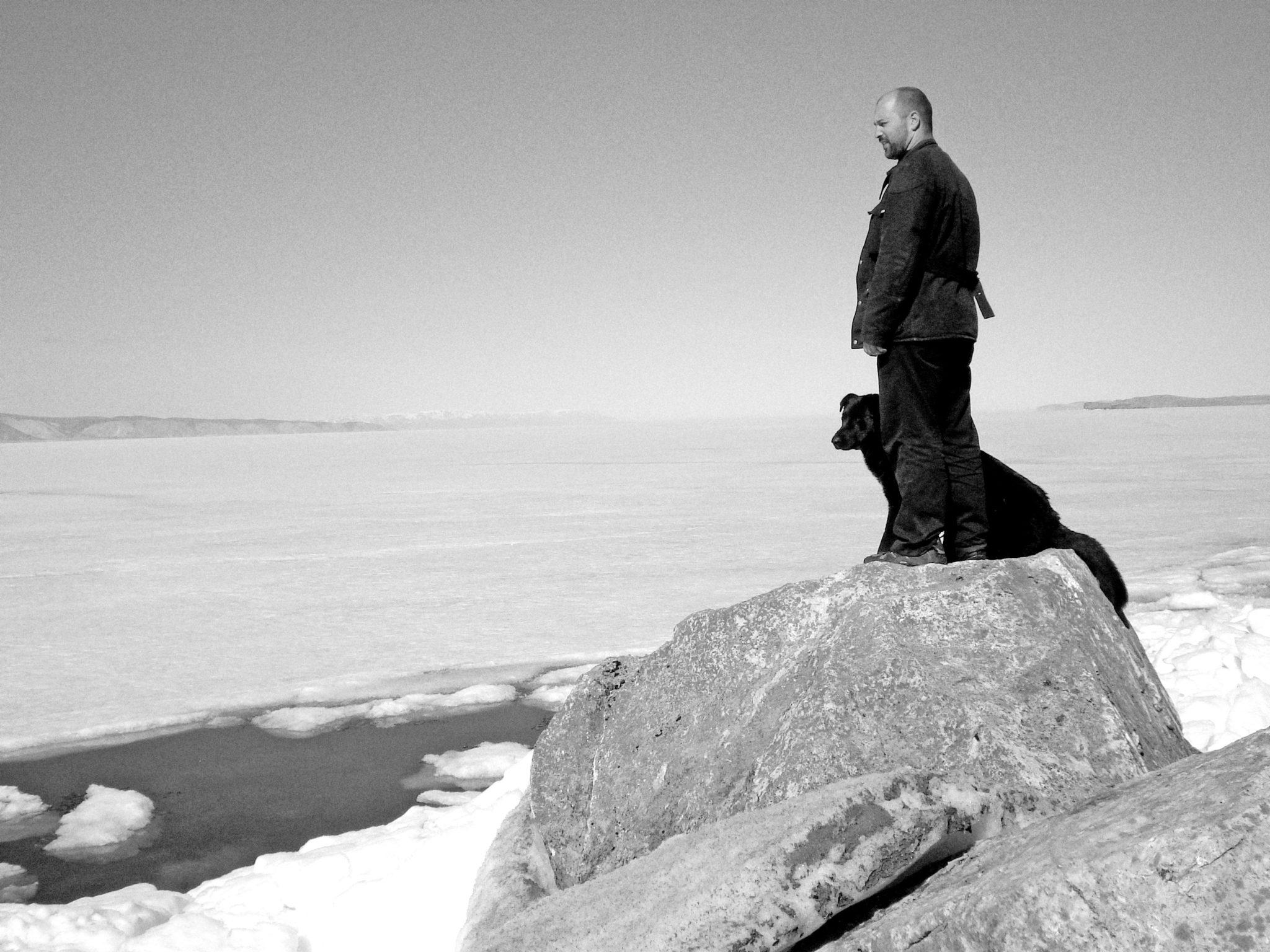 author Ed Gillespie looks over Lake Baikal