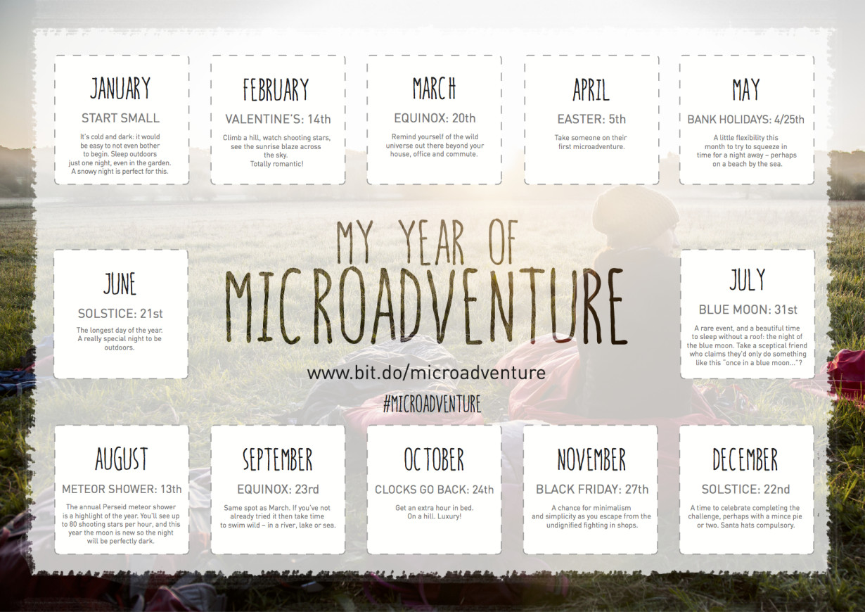 Your Year of Microadventure Calendar