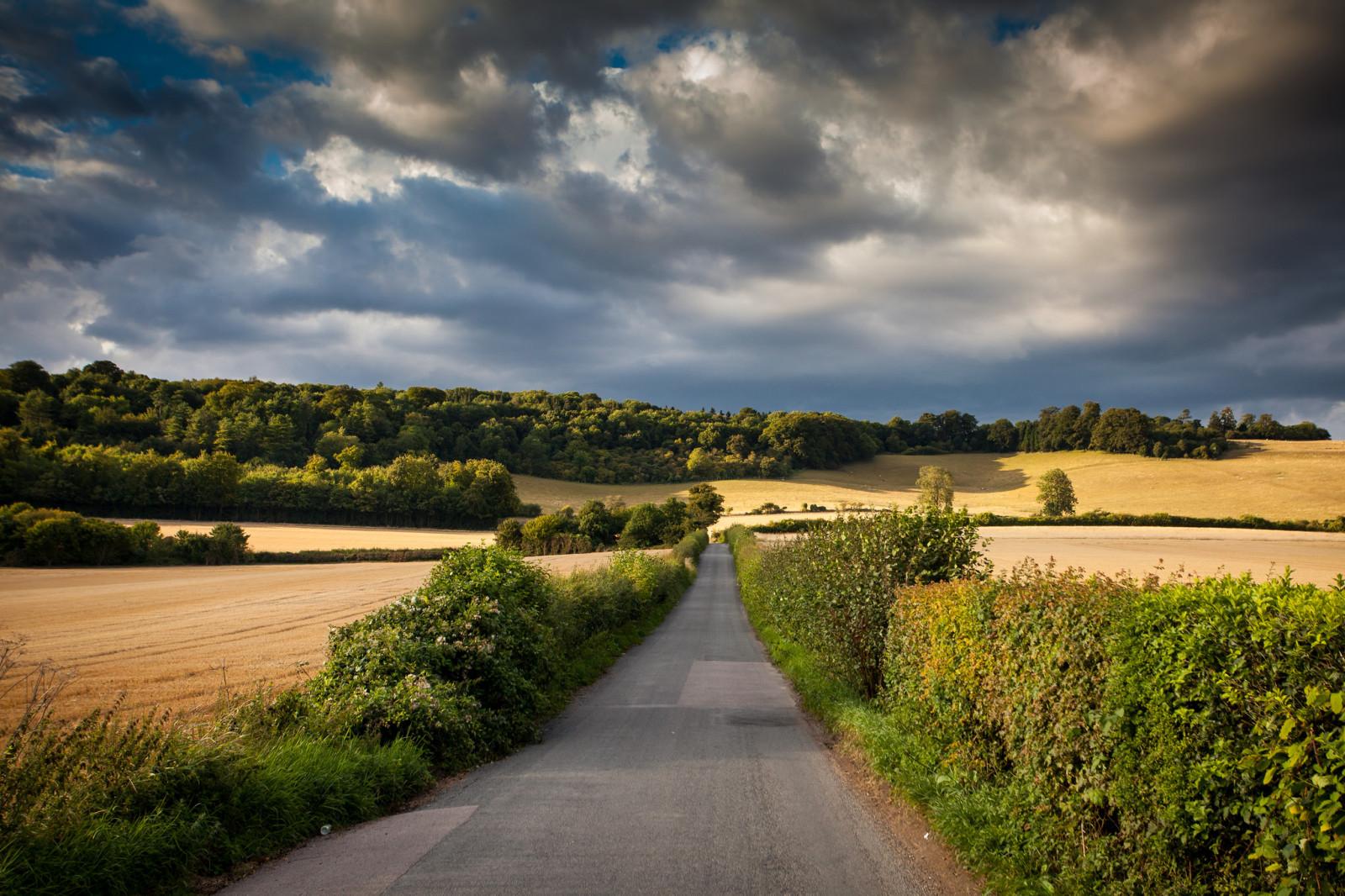 hill road sky