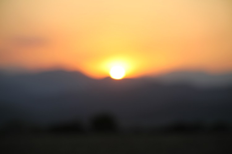 blurred sunrise