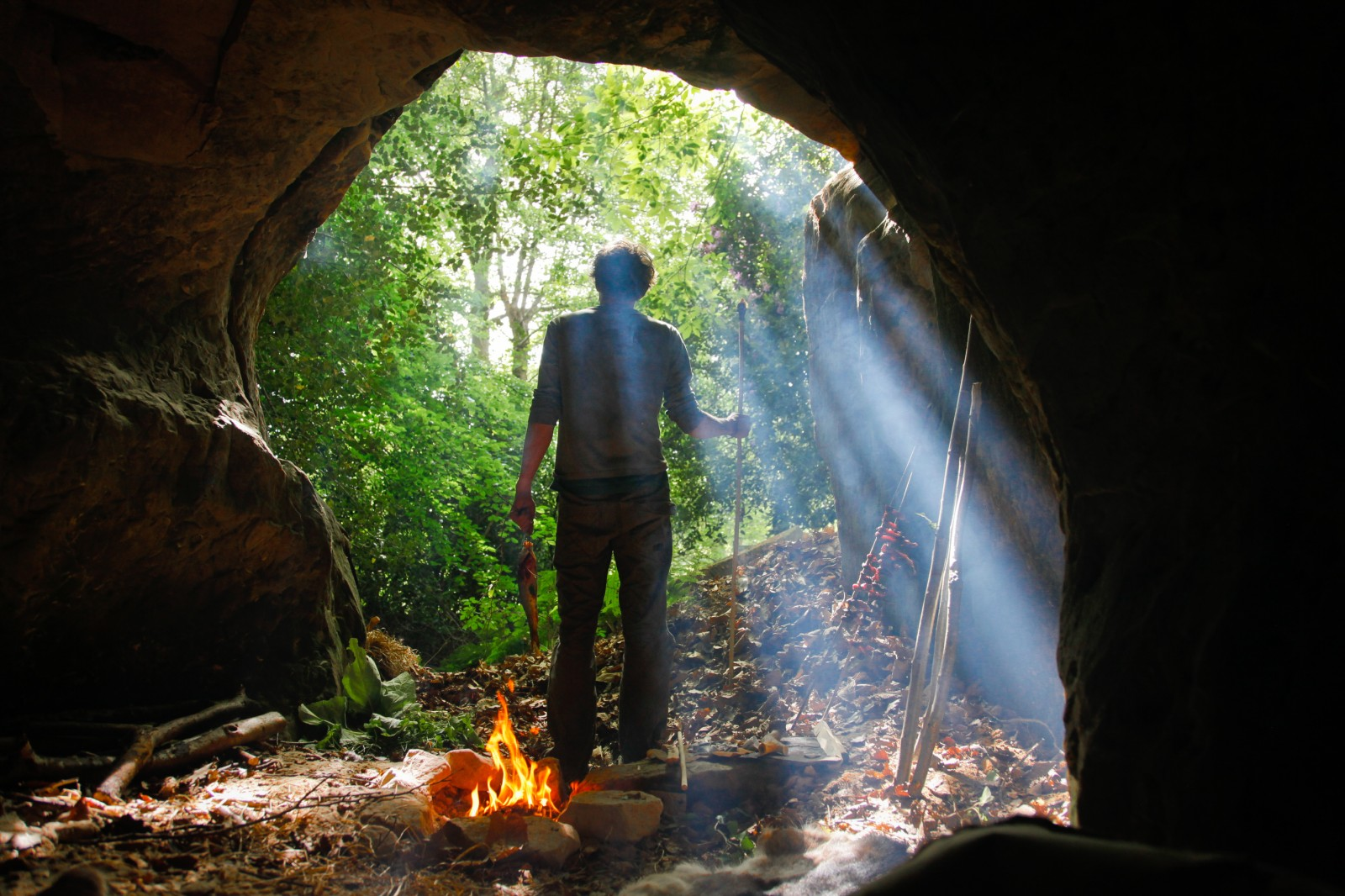 Caveman fire