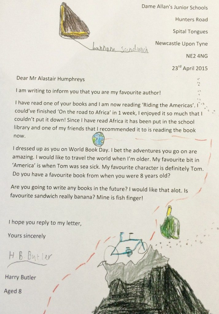 author letter