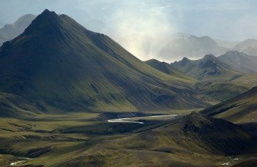 Mountains and Rivers in Iceland