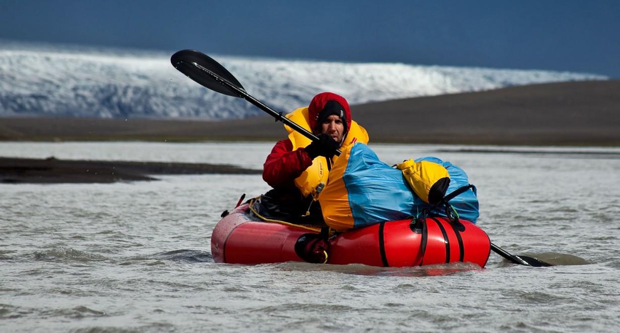 packraft river glacier
