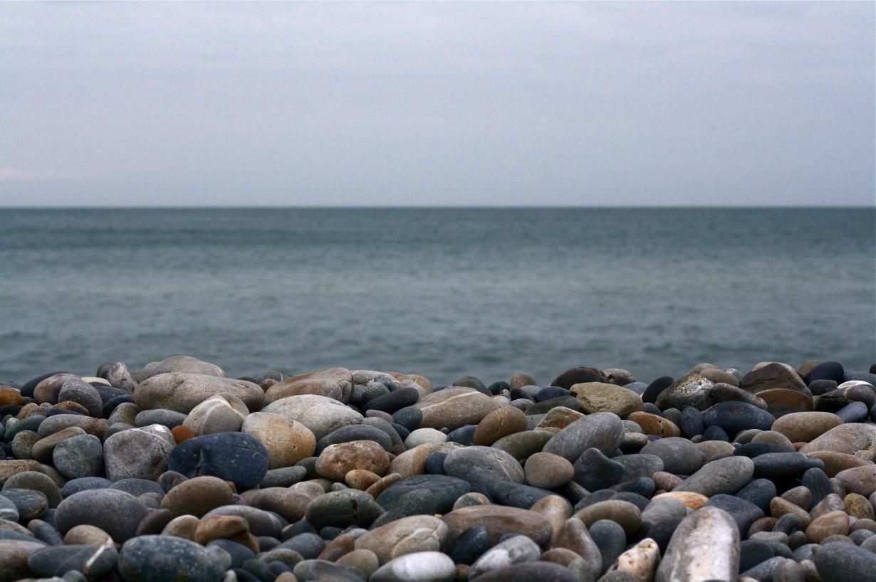 pebbles seashore