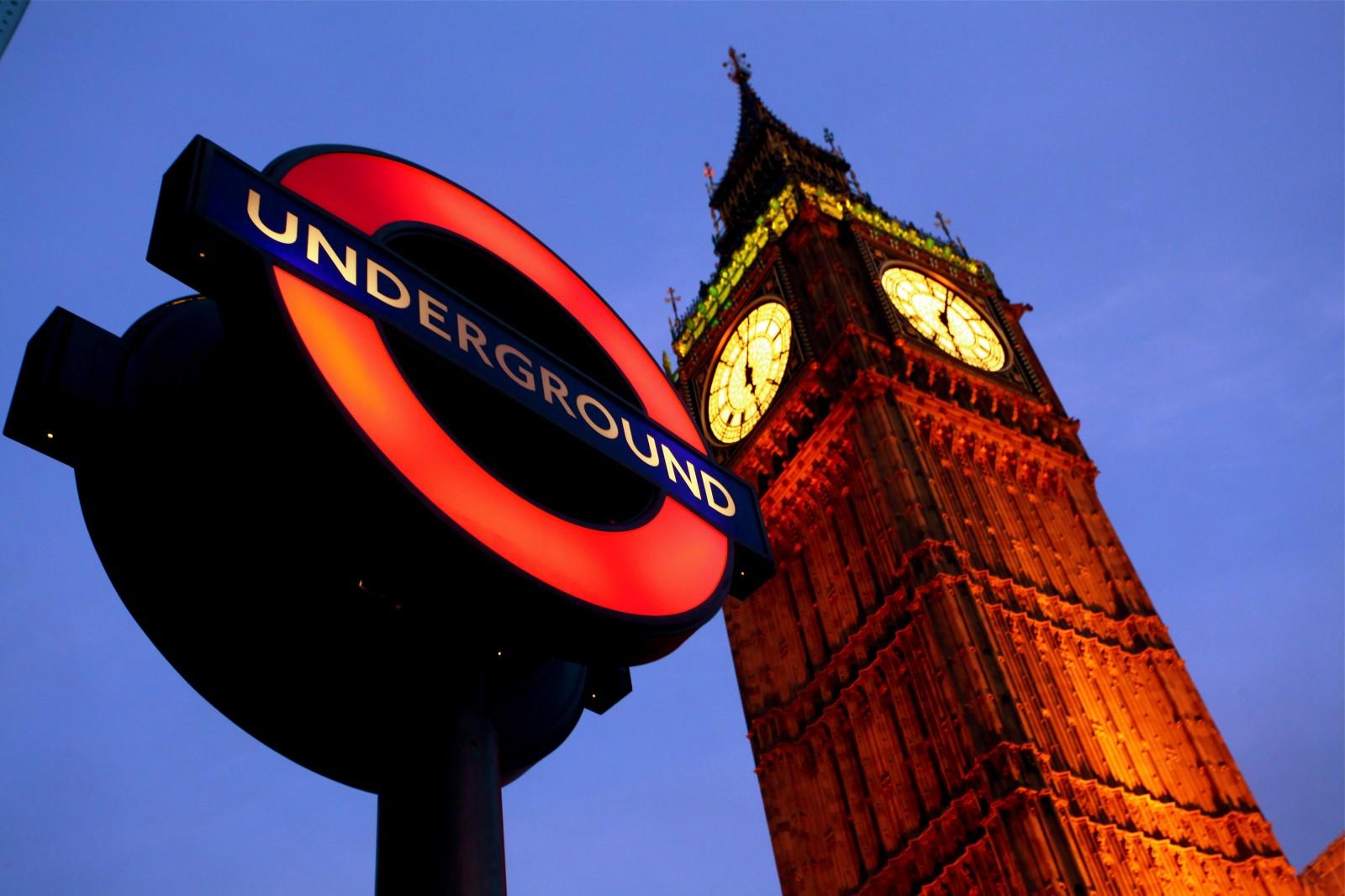 underground london tube big ben