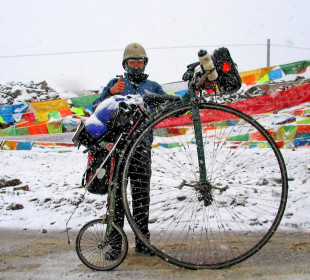 Round the World on a Penny Farthing