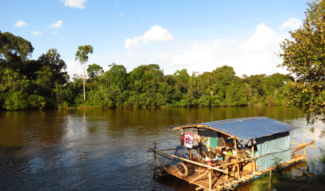 Down the Amazon in a homemade Raft